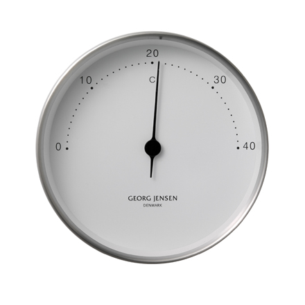 Koppel - 10cm Thermometer in stainless steel with white dial