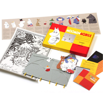 Contents of Moomin Mobile gift box